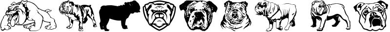 English Bulldog Font