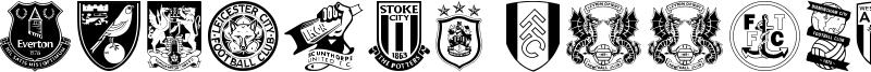 English Football Club Badges Font
