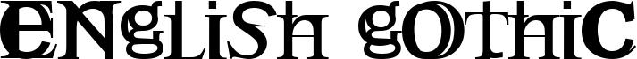 English Gothic Font