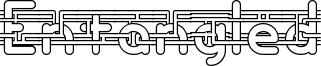 Entangled Font
