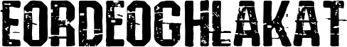 Eordeoghlakat Font