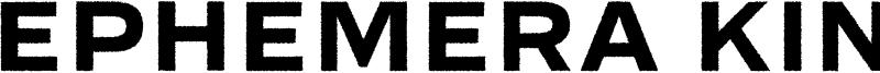 Ephemera Kingsford Rough Font
