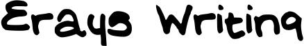 Erays Writing Font