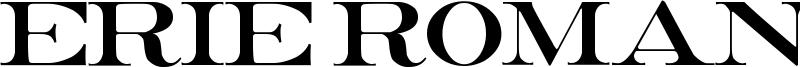 Erie Roman Font