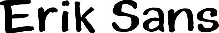 Erik Sans Font