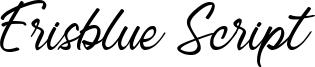 Erisblue Script Font