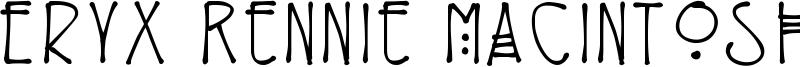 Eryx Rennie Macintosh Font