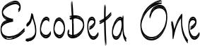 Escobeta One Font