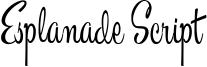 Esplanade Script Font