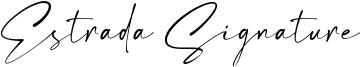 Estrada Signature Font