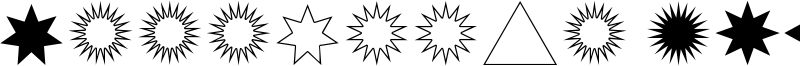 Estrellas TFB Font