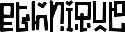 Ethnique Font