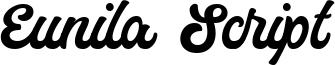 Eunila Script Font