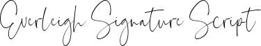 Everleigh Signature Script Font