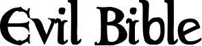 Evil Bible Font