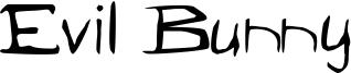Evil Bunny Font