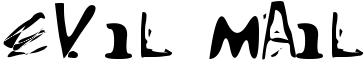 Evil Mail Font