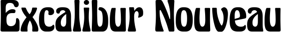 Excalibur Nouveau Font