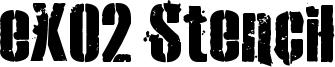 eXO2 Stencil Font