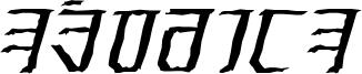 Exodite Distressed Italic.otf
