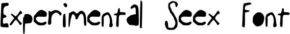 Experimental Seex Font Font