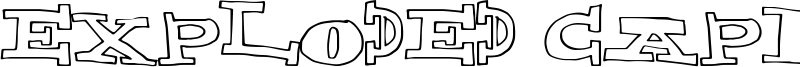Exploded Capital Font