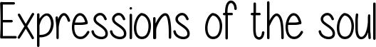 Expressions of the soul Font