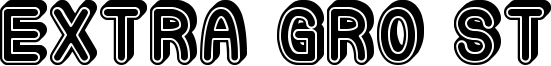 Extra Gro St Font