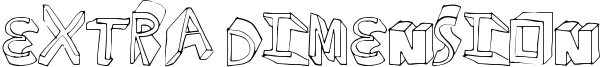 Extra Dimension Font