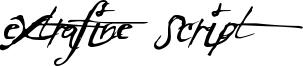ExtraFine Script Font