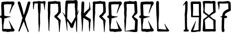 Extrakrebel 1987 Font