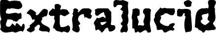 Extralucid Font