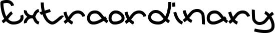 Extraordinary Font