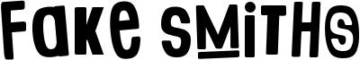 Fake Smiths Font