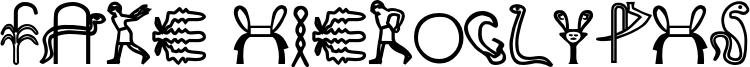 Fake Hieroglyphs Font