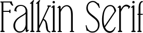 Falkin Serif Font