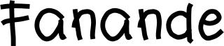 Fanande Font