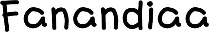 Fanandiaa Font
