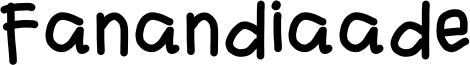 Fanandiaade Font