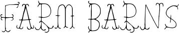 Farm Barns Font