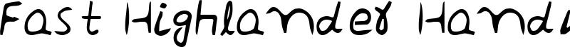 Fast Highlander Handwrite Regular Font