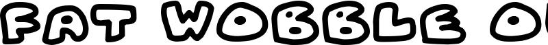 Fat Wobble Outlines Font