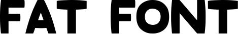 Fat Font Font