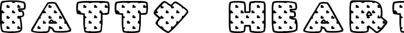 Fatty Heart Filled Font
