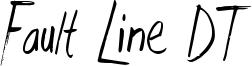 Fault Line DT Font