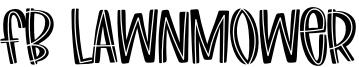 Fb Lawnmower Font