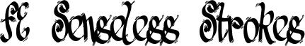 FE Senseless Strokes Font