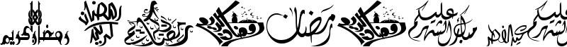 Felicitation Arabic Ramadan Font