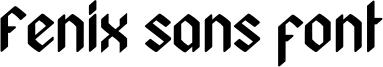 Fenix sans font Font