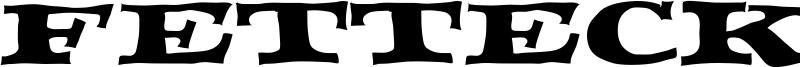 Fettecke Font